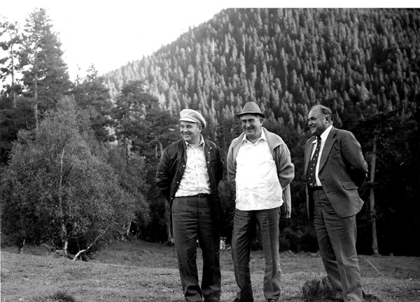 Mikhail Gorbachev and  Yury Andropov on vacation in the Stavropol Krai. 1978