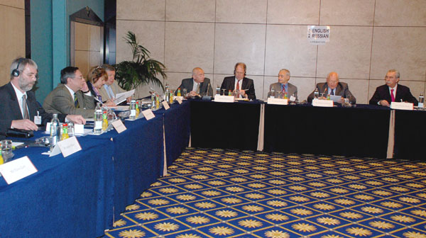 At the 1st meeting of Academic Advisory Council of the New Policy Forum. May 2010