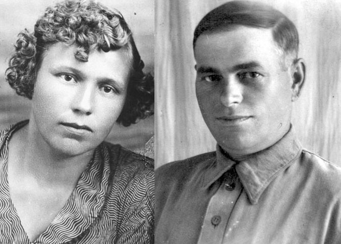 Raisa Gorbachev's parents, 1930s.